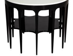 Modern Black and White Custom Center Table - 1738355