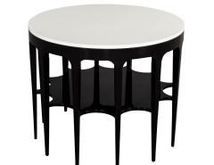 Modern Black and White Custom Center Table - 1738357