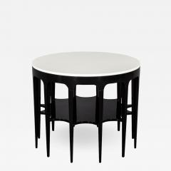 Modern Black and White Custom Center Table - 1738628