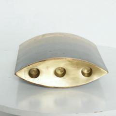 Modern Brass Candle Holder Vase Sculptural Bronze by Michael Aram - 1227499