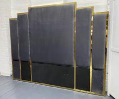 Modern Brass King Size Headboard - 2142413