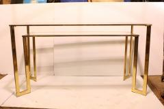 Modern Brass Plated Two Tier Desk or Console Table - 793621