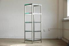 Enjoyable Modern Brushed Aluminium Etagere Or Display With Five Thick Glass Shelves Home Interior And Landscaping Ferensignezvosmurscom