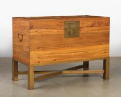 Modern Chinese Blanket Chest Trunk on Stand - 2142221