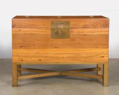 Modern Chinese Blanket Chest Trunk on Stand - 2142222