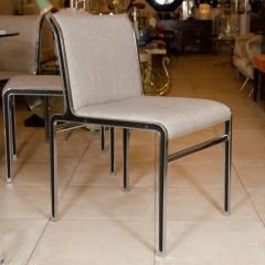 Modern Chrome Dining Chairs - 66108