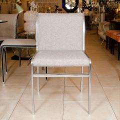 Modern Chrome Dining Chairs - 66110