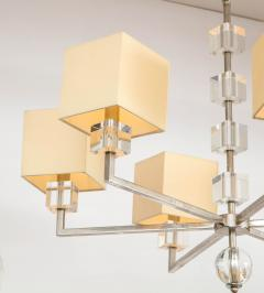 Modern Chrome and Lucite Chandelier - 1790553