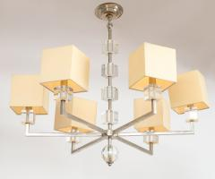 Modern Chrome and Lucite Chandelier - 1790554