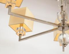 Modern Chrome and Lucite Chandelier - 1790556
