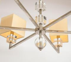Modern Chrome and Lucite Chandelier - 1790558