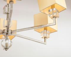 Modern Chrome and Lucite Chandelier - 1790560