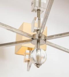 Modern Chrome and Lucite Chandelier - 1790561
