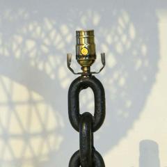 Modern Handmade Iron Chain Link Table Lamp - 1795728
