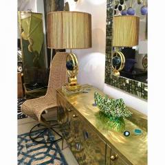 Modern Italian Jewel Like Green Yellow 24Kt Gold Murano Art Glass Mosaic Bowl - 407430