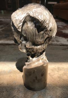 Modern Italian Sculpture Sterling Silver Child Portrait 1970s - 1043309