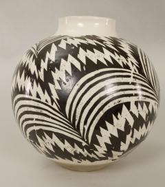 Modern Japanese Black and White Ceramic Studio Vase - 1905760