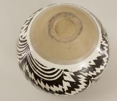 Modern Japanese Black and White Ceramic Studio Vase - 1905825