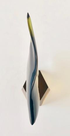 Modern Large Sommerso Murano Glass Angle Fish - 1042679