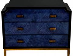 Modern Midnight Blue Nightstand End Table - 2130180
