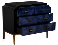 Modern Midnight Blue Nightstand End Table - 2130181