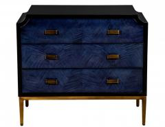 Modern Midnight Blue Nightstand End Table - 2130182