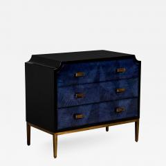 Modern Midnight Blue Nightstand End Table - 2131727