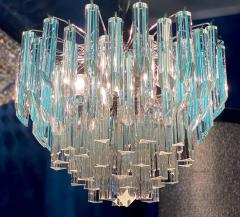 Modern Multitier Crystal Prism Murano Glass Chandelier 1970 - 1574740