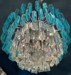 Modern Multitier Crystal Prism Murano Glass Chandelier 1970 - 1574742