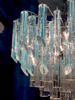 Modern Multitier Crystal Prism Murano Glass Chandelier 1970 - 1574748