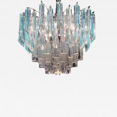Modern Multitier Crystal Prism Murano Glass Chandelier 1970 - 1574939