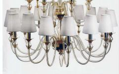 Modern Neoclassical Double Tier Murano Glass Chandelier - 1844437