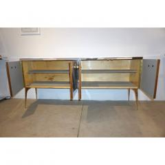 Modern One of a Kind Italian Pop Design Pastel Colored Glass Sideboard Cabinet - 502709