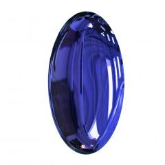 Modern Sculptural Concave Purple Glass French Mirror - 1065319