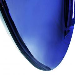 Modern Sculptural Concave Purple Glass French Mirror - 1065332
