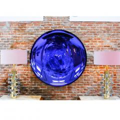 Modern Sculptural Concave Purple Glass French Mirror - 1065335