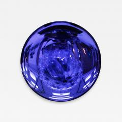 Modern Sculptural Concave Purple Glass French Mirror - 1065875