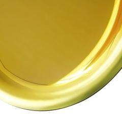 Modern Sculptural Concave Yellow Glass French Mirror - 1087714