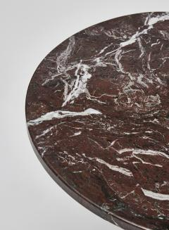 Modern Small Griotte Marble Side Table - 1706938