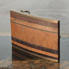 Modern Urban Cowboy 1970s KENNETH REID Brass Wood Belt Buckle New Mexico - 1274266