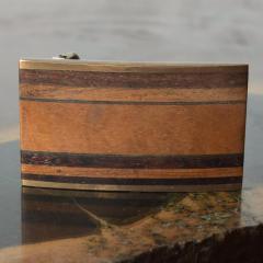 Modern Urban Cowboy 1970s KENNETH REID Brass Wood Belt Buckle New Mexico - 1274269