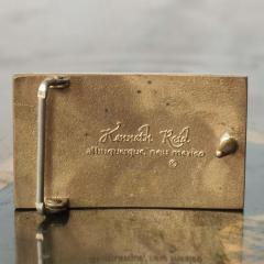 Modern Urban Cowboy 1970s KENNETH REID Brass Wood Belt Buckle New Mexico - 1274270
