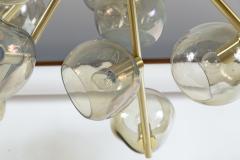 Moderne Iridescent Smoke Sputnik Ceiling Fixture Contemporary - 1766865