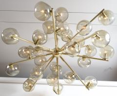 Moderne Iridescent Smoke Sputnik Ceiling Fixture Contemporary - 1766866