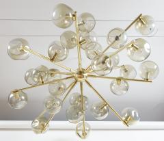 Moderne Iridescent Smoke Sputnik Ceiling Fixture Contemporary - 1766876