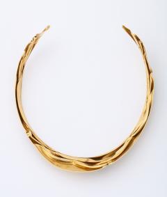 Modernist Articulated Gold Collar - 1534993
