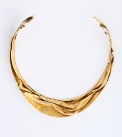 Modernist Articulated Gold Collar - 1534996