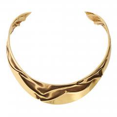 Modernist Articulated Gold Collar - 1535735