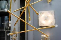 Modernist Brass Chandelier with Eight Lights - 729391
