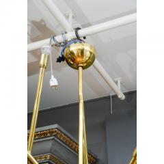 Modernist Brass Chandelier with Eight Lights - 729393